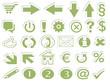 Online Shop Button Symbole grün