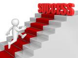 businessman run to Success