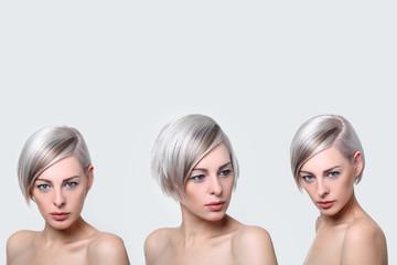 platin haarfarbe 3 ansichten
