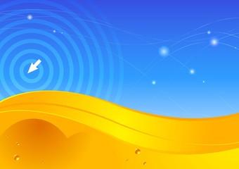 Digital desert. Vector.