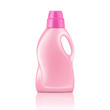 Pink liquid laundry detergent bottle.