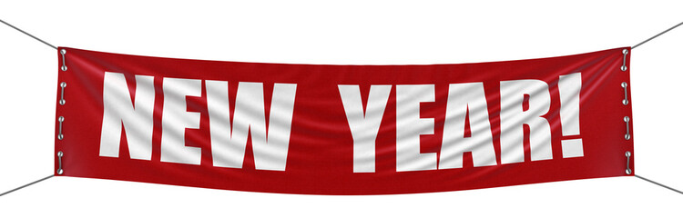 New year Banner (clipping path included)