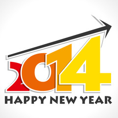 happy new year 2014 move up arrow stock vector