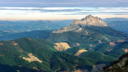 Udalaitz peak mountain in Basque Country