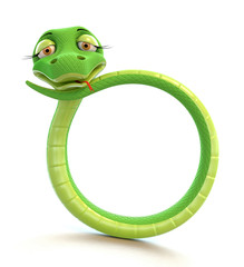 Funny snake in the form of number zero.