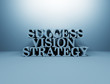 Business succes 3d text