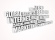 Internet market related words - 3d text