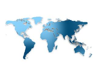 World map 3d embros dark blue metallic texture