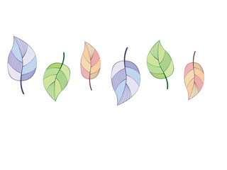 pattern of hand-drawn leaves