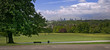Park with wiev of Frankfurt