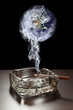 Polluting smoking - elements of this image furnished by NASA
