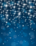 christmas blue background with brilliance stars, vector poster