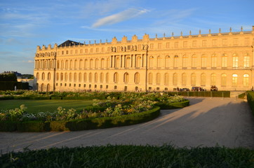 Chateau de Versailles Gardens in the evening