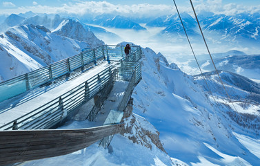 Winter Dachstein mountain massif