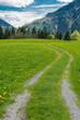 Wanderpfad in den bayerischen Alpen