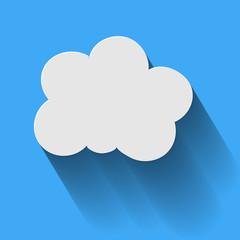 Icon Cloud Computing  Long Shadow