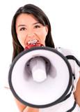 Bossy woman yelling