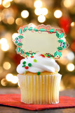 Holiday Cupcake with room for Message