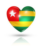 Love Togo, heart flag icon