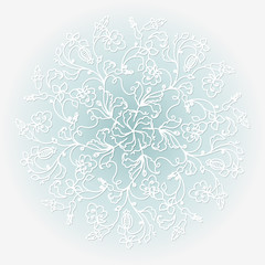 White paper vector snowflake