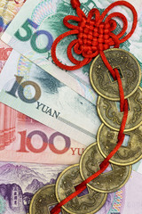 China's money and  feng shui coins