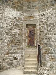 Eastern State Penitentiary Stone and Metal Doorway