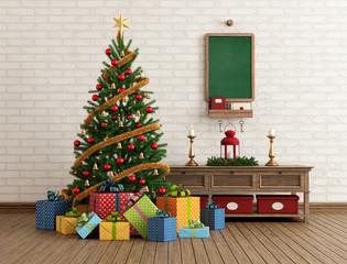 Vintage Christmas interior