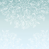 White paper vector snowflake background
