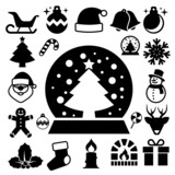 Fototapety Christmas icon set