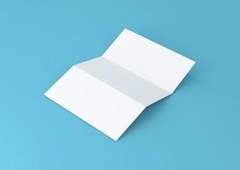 Briefpapier gefalzt Hintergrund blau