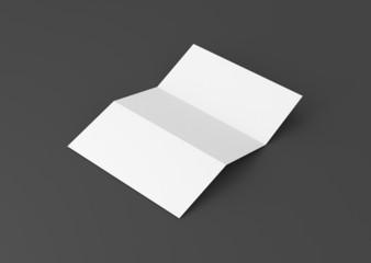 Briefpapier gefalzt Hintergrund grau
