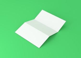 Briefpapier gefalzt Hintergrund grün