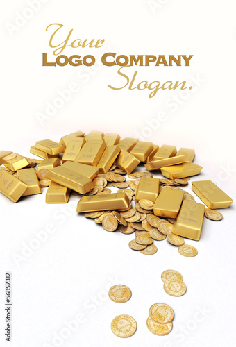 Treasure in gold slogan