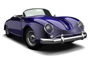 Oldtimer Luxus Sportwagen blau