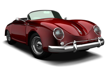 Oldtimer Luxus Sportwagen rot