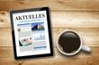 Tablet Pc mit Aktuellen Nachrichten
