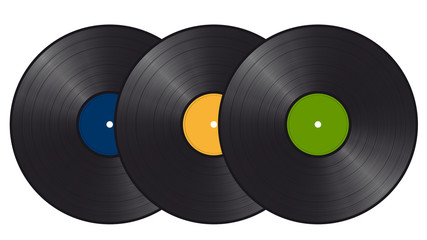3 Schallplatten