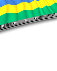 Designelement Flagge Gabun