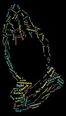 Christianity info - word cloud concept.