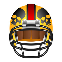 Footbal helmet with skull