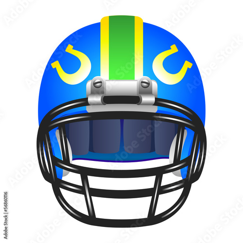 Footbal helmet with horseshoe