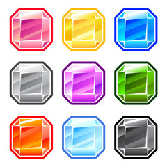 Colourful Square Diamonds