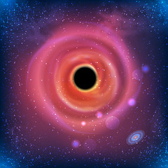 100% Vector Beautiful Glowing Galaxy Black Hole