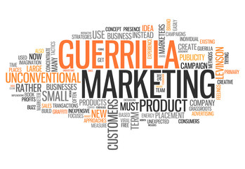 "Word Cloud ""Guerrilla Marketing"""
