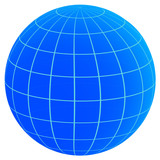 globe with parallels and meridians poster