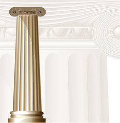 Ancient Columns. Vector.