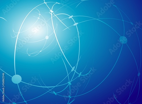 Blue abstract. Vector.