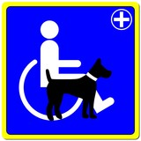 LOGO DOGS ASSISTANCE CANE PER DISABILI