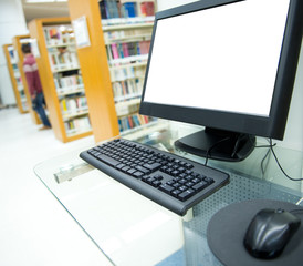 computer in a library
