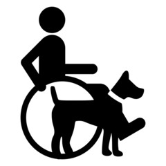 LOGO ICONA CANE PER DISABILI DOGS ASSISTANCE